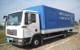 Samochód ciężarowy MAN wykorzystywany podczas kursów na prawo jazdy kat. C