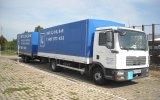 Samochód ciężarowy MAN wykorzystywany podczas kursów na prawo jazdy kat. C + E